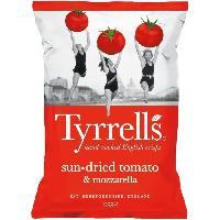Produits Sales Aperitif TYRRELL'S Chips de pommes de terre Lisses Sachet de Tomates sechees et Mozzarella - 150 g