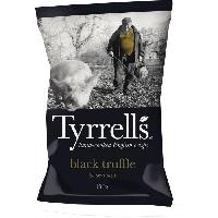 Produits Sales Aperitif TYRRELL'S Chips de pommes de terre Lisses Sachet de Truffe Noire - 150 g