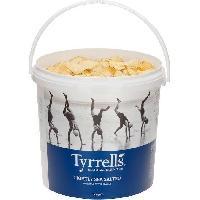 Produits Sales Aperitif TYRRELL'S Chips de pommes de terre Lisses Seau de Legerement salees au sel de mer - 600 g