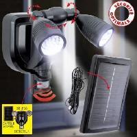 Projecteur Exterieur Double projecteur 38 LED non demontable - En PVC - 21 x 21 x 14 cm - Noir