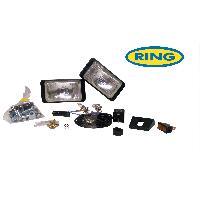 Projecteurs 2 Phares rectangulaires - Longue Portee Microline H3 12V 55W - SANS CACHE Ring