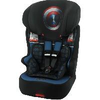 Promenade-voyage Marvel Siege auto isofix RACER groupe 1/2/3 (9-36kg) - Captain America