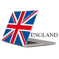 Protection - Personnalisation - Support Adhesif compatible avec PC Portable -ENGLAND- Full Color - PROMO ADN - Car Deco