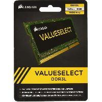 Protection - Personnalisation - Support CORSAIR Memoire PC DDR3 - Value Select 8 Go -1x8Go- - 1600 MHz - CL11 -CMSO8GX3M1C1600C11-