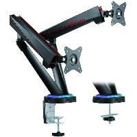 Protection - Personnalisation - Support Puissants Bras Articules pour deux ecrans de 17'' a 35'' equipes de LED RGB