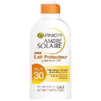 Protection Solaire Corps Et Visage Ambre Solaire Lait protecteur - FPS 30 - Hydratation 24h - 200 ml