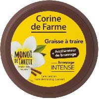 Protection Solaire Corps Et Visage CORINE DE FARME Graisse a Traire avec accelerateur de bronzage en pot Monoi de Tahiti - 150 ml