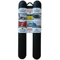 Protections Carrosserie 2 Butoirs pare-chocs 37cm noirs ADNAuto