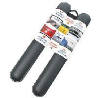 Protections Carrosserie 2 Butoirs pare-chocs 51cm noirs Generique