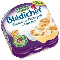 Purees De Legumes BLA?DINA Risotto petits pois carottes - 2 x 230 g