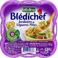 Purees De Legumes BLEDICHEF Jardiniere de Legumes Et Pates 260g -x1-