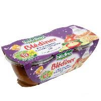 Purees De Legumes BLEDINA Blediner Pates Coquilles Tomates Courgettes Lait 2x200g