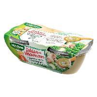 Purees De Legumes BLEDINA Lot de 2 plats cuisines - Legumes verts et champignons Idees de Maman - Des 8 mois - 2 x 200g