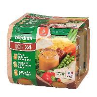 Purees De Legumes BLEDINA Petits pots Legumes Dinde Veau Colin - 4x200 g - Des 6 mois