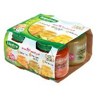 Purees De Legumes BLEDINA Petits pots carottes potirons et haricots verts - Des 4 a 6 mois - 4 x 130 g