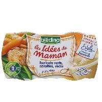 Purees De Legumes Idees de Maman Haricots Verts Carottes Veau a la Creme 2x200g