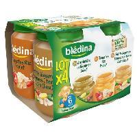 Purees De Legumes Petit pots boeuf et poulet - Des 6 mois carottes semoule et dinde - 4 x 200 g