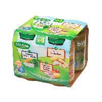 Purees De Legumes Petits Pots 1x epinard semoule merlu 1 puree panais dinde 2 x printaniere de legumes jambon - 4 x 200g