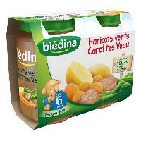Purees De Legumes Petits pots haricots verts carottes et veau - Des 6 mois - 2 x 200 g
