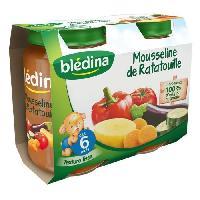 Purees De Legumes Petits pots mousseline de ratatouille - Des 6 mois - 2 x 200 g