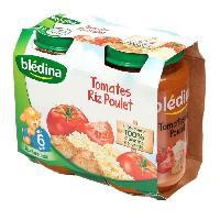 Purees De Legumes Petits pots tomates riz et poulet - 2 x 200 g