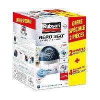 Purete De L'air RUBSON Lot de 2 absorbeurs - déshumidificateurs -  20m² - Aero- 360°et 4 Recharges - Aero - 360° Neutre