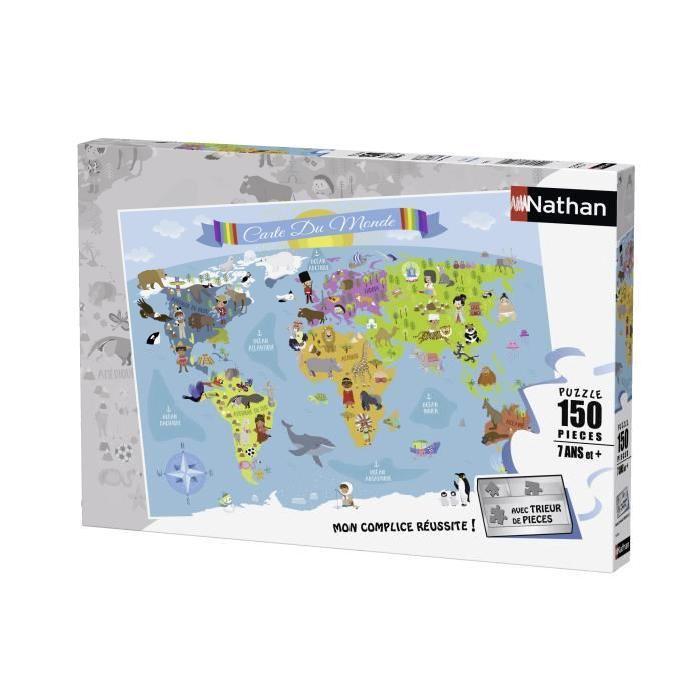 Puzzle-150-pcs-Carte-Du-Monde-Nathan