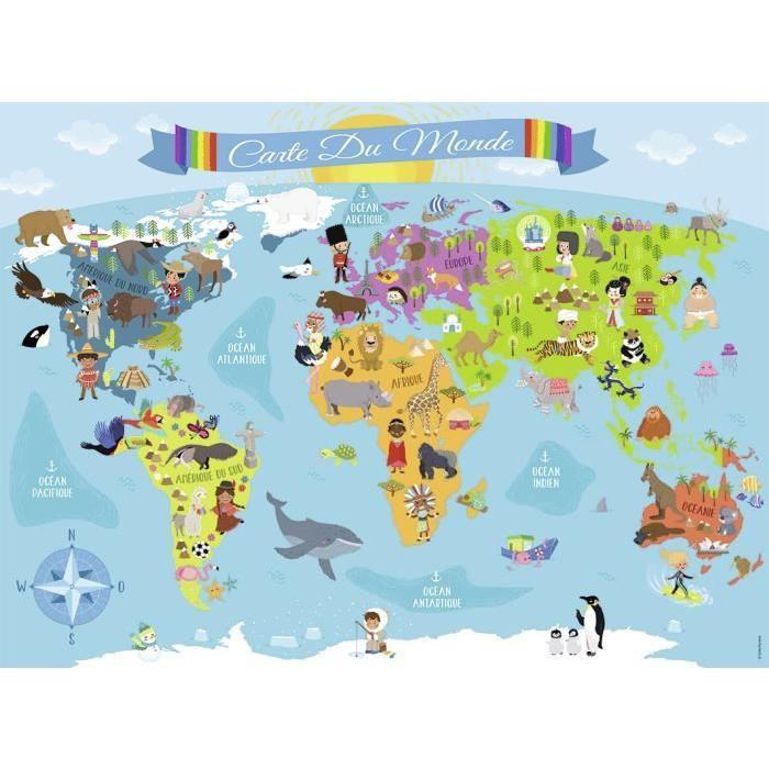Puzzle-150-pcs-Carte-Du-Monde-Nathan miniature 2