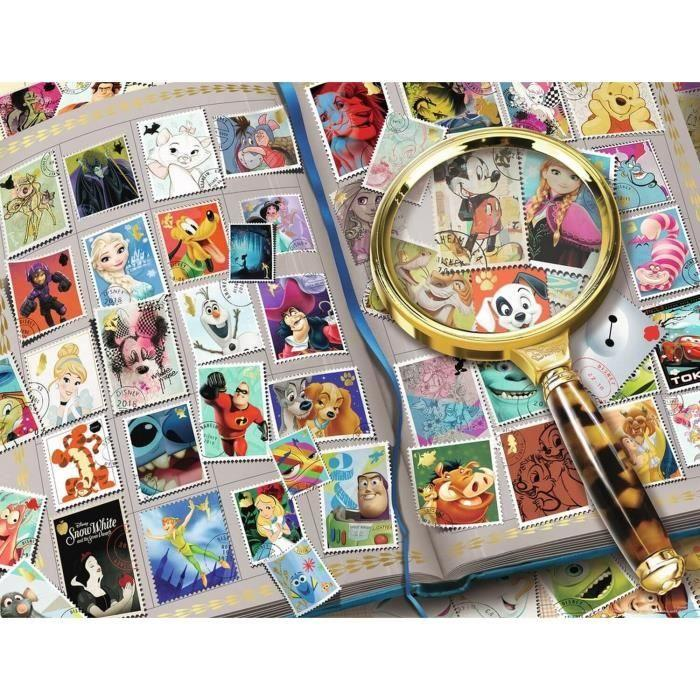 Puzzle-2000-pieces-Mes-timbres-preferes-Disney-Ravensburger