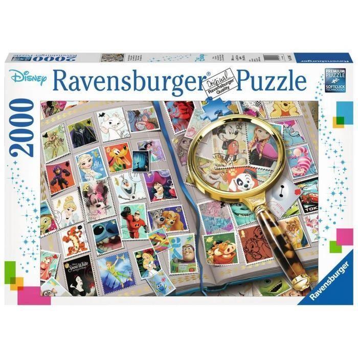 Puzzle-2000-pieces-Mes-timbres-preferes-Disney-Ravensburger miniature 2
