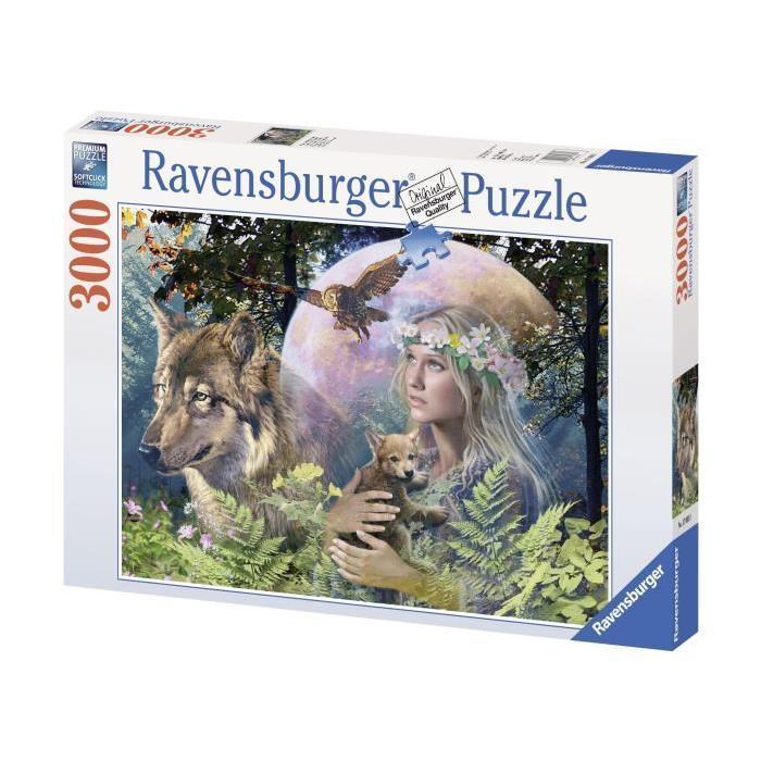Puzzle-3000-pcs-Loup-Clair-De-Lune-Ravensburger