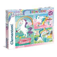 Puzzle CLEMENTONI - Puzzle Licornes 3 x 48 Pieces Super Color