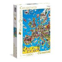 Puzzle Carte d'Europe Puzzle 1000 pieces