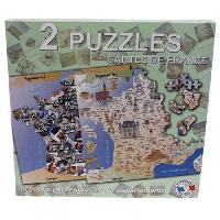 Puzzle FERRIOT Coffret 2 puzzles departements et regions de France