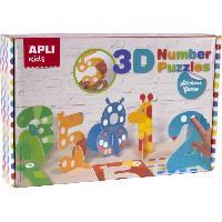Puzzle Jeu de gommettes puzzle 3D numeros