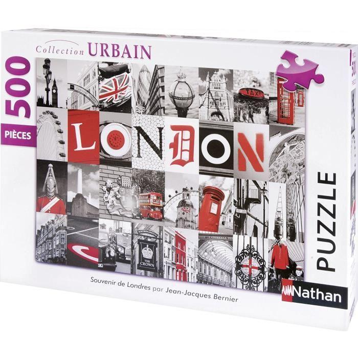 Puzzle-Souvenirs-De-Londres-500-pcs-Nathan miniature 2