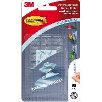 Quincaillerie 3M COMMAND Crochet clear déco clip - Transparent