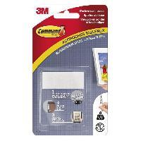 Quincaillerie 3M COMMAND Languettes de fixation - Moyen modele - Blanc