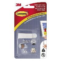 Quincaillerie 3M COMMAND Languettes de fixation - Petit modele - Blanc