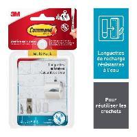 Quincaillerie 3M Languettes de fixation résistantes a l'eau - 8PM + 4MM + 4GM