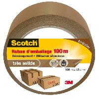 Quincaillerie 3M SCOTCH Ruban adhésif d'emballage - 100 m x 48 mm - Marron