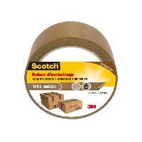 Quincaillerie 3M SCOTCH Ruban adhésif d'emballage - 66 m x 48 mm - Marron