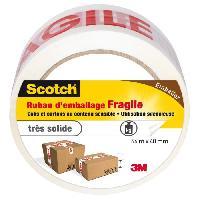 Quincaillerie 3M SCOTCH Ruban adhésif d'emballage fragile - 66 m x 48 mm
