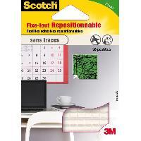 Quincaillerie SCOTCH 36 pastilles adhesives - Repositionnable