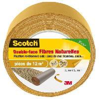 Quincaillerie SCOTCH Double-face - 20 m x 50 mm - Fibre naturelle