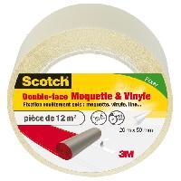 Quincaillerie SCOTCH Double-face - 20 m x 50 mm - Moquette et vinyle
