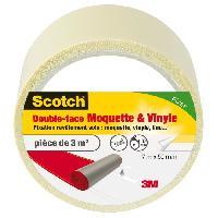 Quincaillerie SCOTCH Double-face - 7 m x 50 mm - Moquette et vinyle