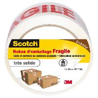 Quincaillerie SCOTCH Ruban adhesif d'emballage fragile - 66 m x 48 mm