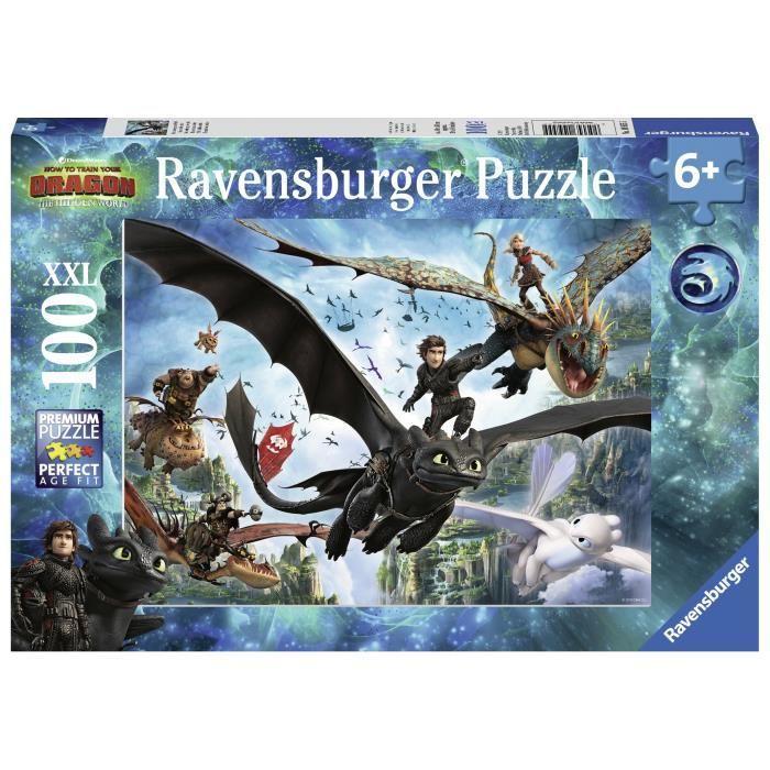 RAVENSBURGER-Puzzle-100-p-XXL-Le-monde-cache-Dragons-3