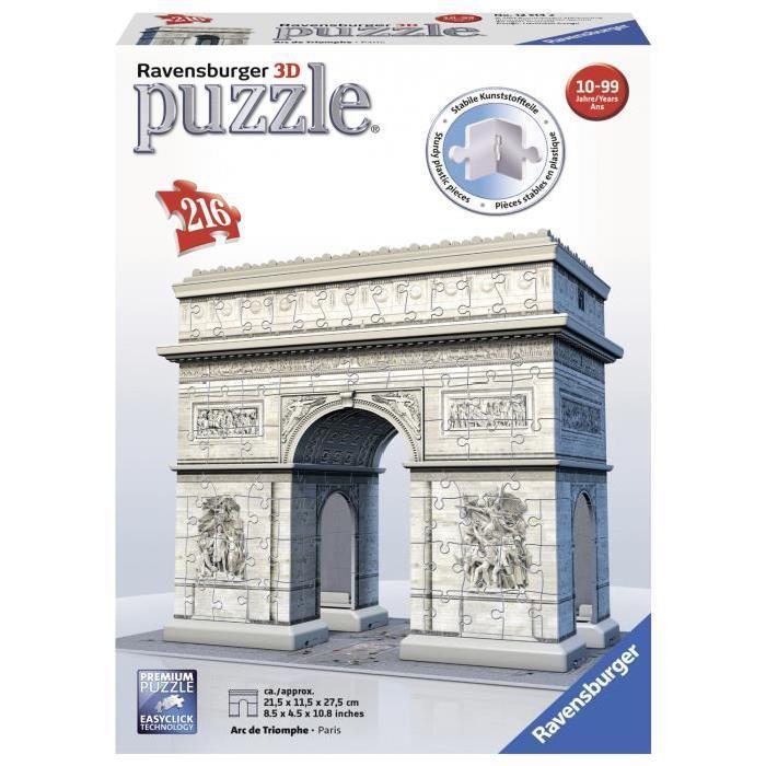 RAVENSBURGER-Puzzle-3D-Arc-De-Triomphe-216-pcs